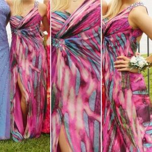 Multicolor Evening Gown - worn once for Prom